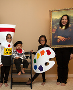 Fun family Halloween costume ideas - Masterpiece Family Costume