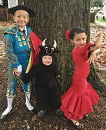 Matador, Bull, & Flamenco Dancer Homemade Costume