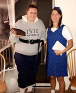 Matilda and Trunchbull Homemade Costume