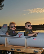 DIY baby costume ideas: Maverick and Goose Costume