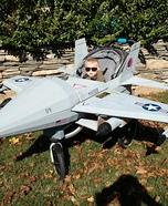 Maverick in his Jet Homemade Costume