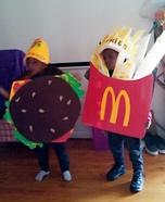 McDonald Fries and Cheeseburger Homemade Costume