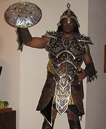 Homemade Medieval Dragon Warrior Costume