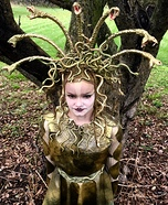 Girl's Homemade Medusa Costume
