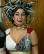 Homemade Medusa Adult Costume