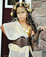 Homemade Medusa Costume Idea for Girls