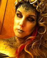 Medusa Halloween Costume and Make Up