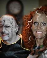 Medusa and Stone Man Couple Costumes