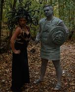 Medusa and Stone Man Homemade Costume