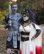 Medusa and the Stone Warrior Couple Homemade Costume