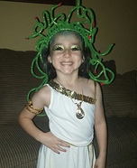 Medusa Girl Homemade Costume