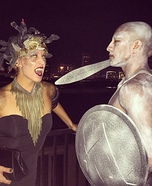 Medusa and her Victim Couples Costume