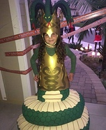 Medusa with Snake Body Homemade Costume