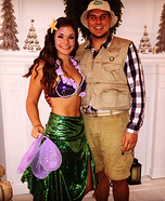 Mermaid and Fisherman Homemade Costume