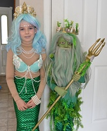 Mermaid and Poseidon Homemade Costume