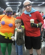 Mermaid Man and Barnacle Boy Homemade Costume
