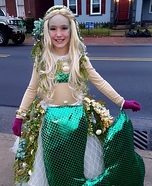 Mermaid on a Rock Homemade Costume