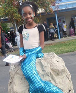 Mermaid on the Rocks Homemade Costume