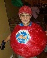 Mets Home Run Apple Homemade Costume