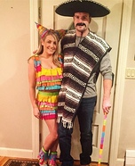 Mexican and Pinata Homemade Costume
