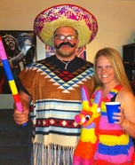 Homemade Mexican & Pinata Costume