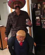 Mexican riding President Homemade Costume
