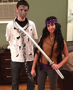 Michonne and her Pet Zombie Homemade Costume