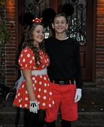 Mickey and Minnie Homemade Costume