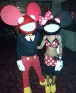 Couples Halloween costume idea: Mickey and Minnie Deadmau5
