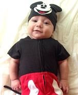 Easy DIY Mickey Mouse Baby Costume