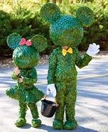 Mickey & Minnie Topiary Homemade Costume