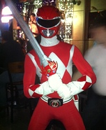 Red Mighty Morphin Power Ranger Homemade Costume