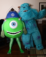 Mike and Sully Couple Halloween Costume