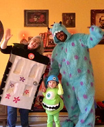 Mike, Sully, and Boo's door Monsters Inc Homemade Costume