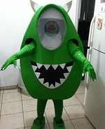 Creative DIY Mike Wazowski Costume