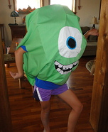 Homemade Mike Wazowski Costume