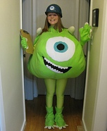 Halloween costume ideas for girls: Mike Wazowski Homemade Costume