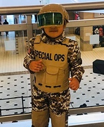 Military  Man Homemade Costume
