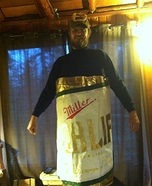 Miller High Life Beer Can Homemade Costume
