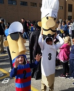 Miller Park Racing Sausages Homemade Costume