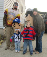 Milwaukee Brewer Racing Sausages Homemade Costumes for Kids
