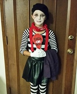 Halloween costume ideas for girls: Mime Homemade Costume