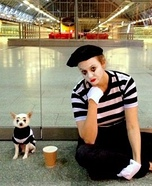 Costume ideas for pets and their owners: Mimes Costume