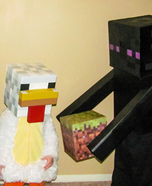 Minecraft Family Homemade Costume