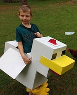 Minecraft Chicken Homemade Costume