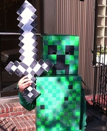 Minecraft Creeper Homemade Costume
