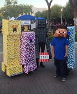 Minecraft Creepers and Enderman Homemade Costume