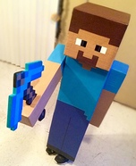Homemade Minecraft Steve Costume