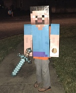 DIY Minecraft Steve Costume for Boys