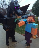 Minecraft Steve and Ender Dragon Homemade Costume